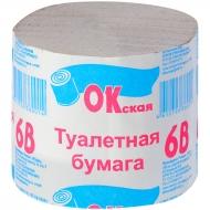 Бумага туалетная Окская, 1 слойн., 100г, без втулки, серая 30м