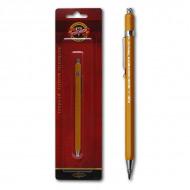 Цанговый механический карандаш Koh-I-Noor, диаметр грифеля 2мм, метал.корпус, блистер, 5201CN1004BL