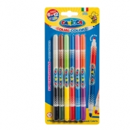 """Фломастеры двусторонние Carioca """"Bi-Color"""", 12цв., 6шт., двуцветные, смываемые, блистер, европодвес"""