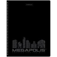 """Папка Erich Krause """"Megapolis"""" A4 на спирали, 20 вкладышей, 600мкм, черная"""