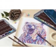 Набор цветных карандашей Derwent Coloursoft 72 цвета в дерев.упак