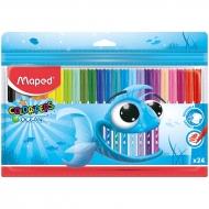 Детские смываемые фломастеры Color peps Ocean Maped, 24 цвета