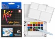 Набор акварельных красок Sakura Koi 24 цвета в пластиковой упаковке