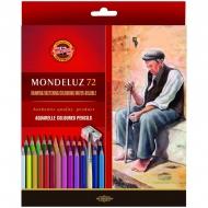"""Карандаши акварельные Koh-I-Noor """"Mondeluz Old Man"""", набор 72 цвета, кисть, точилка"""