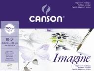 Папка с бумагой для графики Canson Imagine 200г/кв.м 24*32см мелкое зерно 10 листов