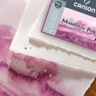 Бумага для акварели Canson Moulin du Roy 640г/кв.м (хлопок) 56*76см Торшон цвет натуральный белый 5л/упак