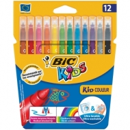 "Фломастеры Bic ""Kid Couleur"", 12цв., картон, европодвес"