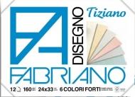 Блок для пастели Fabriano Tiziano 160г/кв.м 24x33см светлые цвета 12л