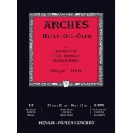 Альбом для масла Arches Huile 300г/кв.м 23*31см 12 листов, склейка