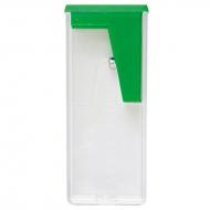 Точилка пластиковая Faber-Castell, 1 отверстие, контейнер, зеленая