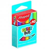 """Цветной мел Color Peps Maped, уникальная формула """"без грязи"""", набор 10 цветов"""