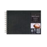 Блокнот для зарисовок Fabriano Drawingbook 160г/м.кв 14,8x21см мелкозернистая 60л спираль по короткой стороне