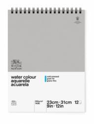 Альбом для акварели Winsor&Newton Classic 300г, 23*31см, 12л Фин, спираль