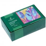 Краски акриловые металлик Greenwich Line, 6 цветов по 20мл, картон