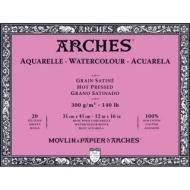 Блок для акварели Arches 300г/кв.м (хлопок) 31*41см 20л Сатин, склейка