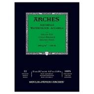 Альбом для акварели Arches 300г/кв.м (хлопок) 21*29,7см 12 листов Фин, склейка