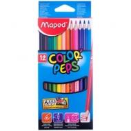 "Карандаши Maped ""Color Peps"", 12 цветов, трехгранный корпус"