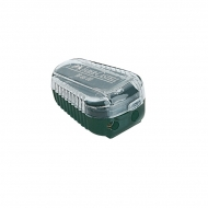 """Точилка пластиковая для грифелей Faber-Castell """"TK"""", 2 отверстия, контейнер, зеленая"""