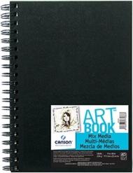 Блокнот для зарисовок Canson Mix Media 224г/кв.м 17.8*25.4см 40листов