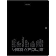 """Папка на кнопке Erich Krause """"Megapolis"""" А4, 600мкм, черная"""