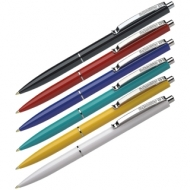 """Ручка шариковая автоматическая Schneider """"K15"""" синяя, корпус ассорти, 1,0мм, толщина линии 0,5мм"""