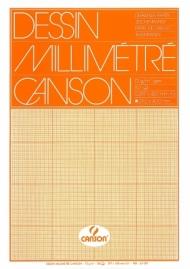 Бумага миллиметровая Canson 90г/кв.м 29.7*42см Оранжевая