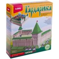 """Конструктор из деревянной соломки Lori """"Гардарика. Крепостная башня"""", от 6-ти лет, картонная коробка"""