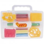 Набор для лепки Jovi, пластилин 8 цветов, формочки и стеки, в пластиковом чемодане