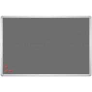 """Доска фетровая с магнитной поверхностью PinMag 2х3 """"Office"""", 60*90см, алюминиевая рамка, 3 магнита"""