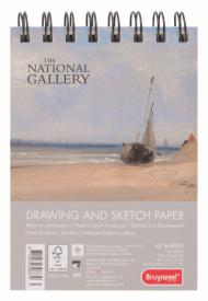 Альбом для зарисовок Bruynzeel National Gallery 160г/м.кв А6 40л спираль по короткой стороне