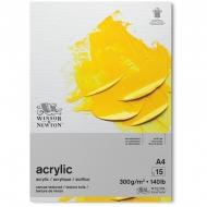 """Альбом-склейка для акрила Winsor&Newton """"Acrylic Paper"""", 15л., А4, 300 г/м2"""