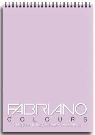 Блокнот для зарисовок Fabriano Colours 80г/м.кв 21x29,7см Лаванда 100л спираль по короткой стороне