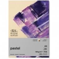 Альбом Winsor&Newton для пастели, карандаша, угля; А4, разноцветные листы - 24 листа (6 цв.х4 л.), коричневые оттенки