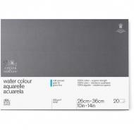 Блок для акварели Winsor&Newton Professional 300г/м.кв 26*36см 20л Фин склейка по 4 сторонам