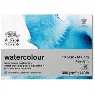 """Альбом-склейка для акварели Winsor&Newton """"Watercolour Paper"""", 15 л., А6, холодный пресс, 300 г/м2"""