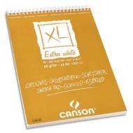 Альбом для пастели и угля Canson Xl 90г/кв.м 29.7*42см 120листов Экстра белая спираль по короткой стороне