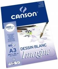 Альбом для графики Canson Imagine 200г/кв.м 29.7*42см 50листов Мелкое зерно склейка по короткой стороне