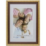 Рамка пластиковая 21*30см, МирРамок, №291, коричневый/золото