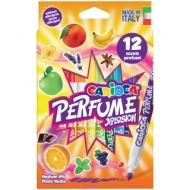 """Фломастеры Carioca """"Perfume Xplosion"""", ароматизированные, 12цв., смываемые, картон, европодвес"""