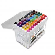 Набор двусторонних маркеров для скетчинга и творчества, пластиковый бокс с ручкой, 60 цветов