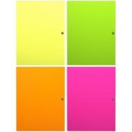 "Папка на кнопке Erich Krause ""Glance Neon"" А4, 400мкм, ассорти"