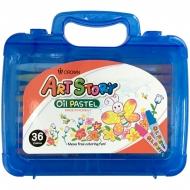 "Пастель масляная Crown ""ArtStory"", 36 цветов, пластиковая упаковка"
