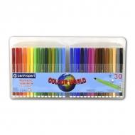 Набор детских фломастеров для рисования Colour World Centropen, 30 цветов