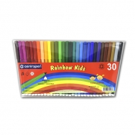 Набор детских фломастеров для рисования Rainbow Kids Centropen, 30 цветов