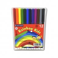 Набор трехгранных фломастеров для рисования Rainbow Kids Centropen, 12 цветов