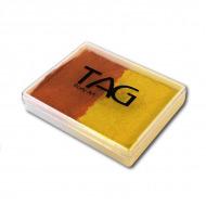 Профессиональный гипоаллергенный аквагрим TAG, сплит-кейк 2 в 1, желтый/оранжевый, 50г