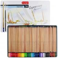 Набор акварельных карандашей Bruynzeel Expression Aquarel, 36 цветов и кисть