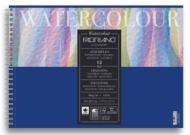 Альбом для акварели Fabriano Watercolour Studio 300г/кв.м (25%хлопок) 21x29,7см Фин 12л спираль по короткой стороне