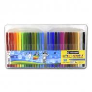 Набор детских смываемых фломастеров для рисования Centropen, 30 цветов