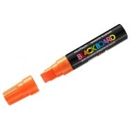 """Маркер меловой MunHwa """"Black Board Jumbo"""" оранжевый, 15мм, водная основа"""